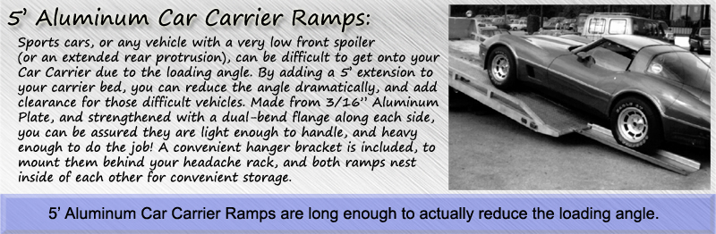 5' Aluminum Car Carrier Ramps