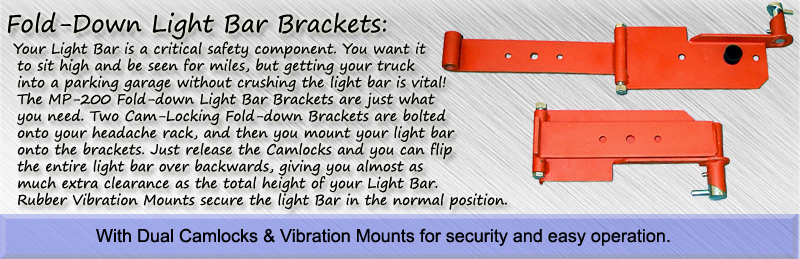 Fold-Down Light Bar Brackets