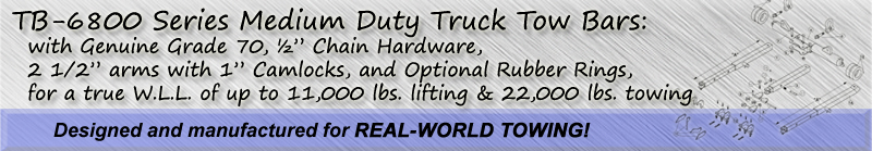 TB-6800 Series Medium Duty Tow Bars