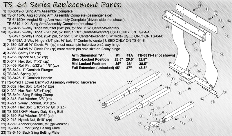 TS-64 Series Replacement Parts